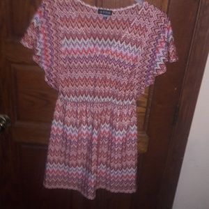 As U Wish Multi-color Midi Dress, Size M